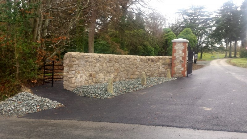 New entrance and road surface at Kilmacurragh Botanic Gardens, County Wicklow by Tilbury Construction